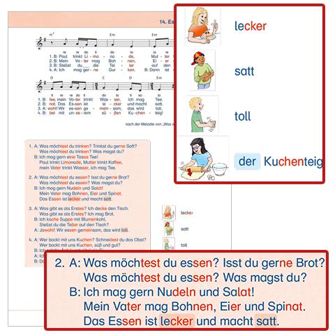 """Bild: Beispielseite """"Willkommen in Deutschland – Lieder zum Deutschlernen"""""""