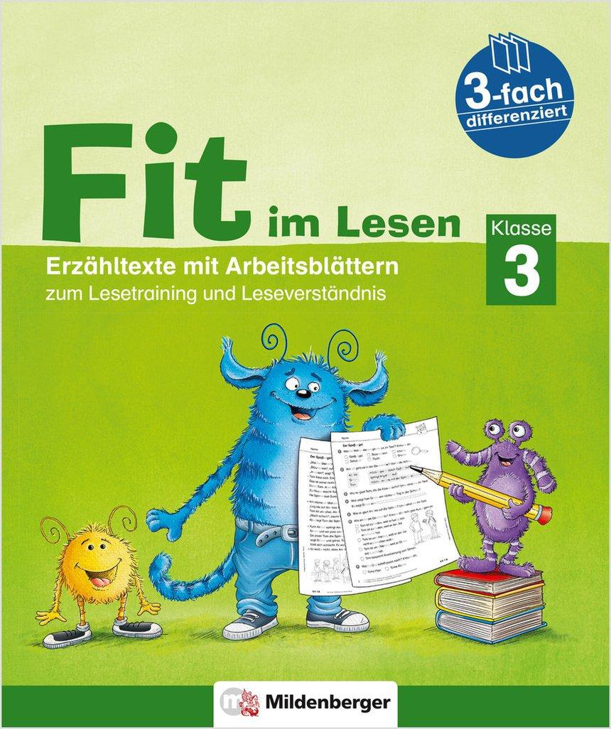 Mildenberger Verlag GmbH - Fit im Lesen – Erzähltexte, Klasse 3