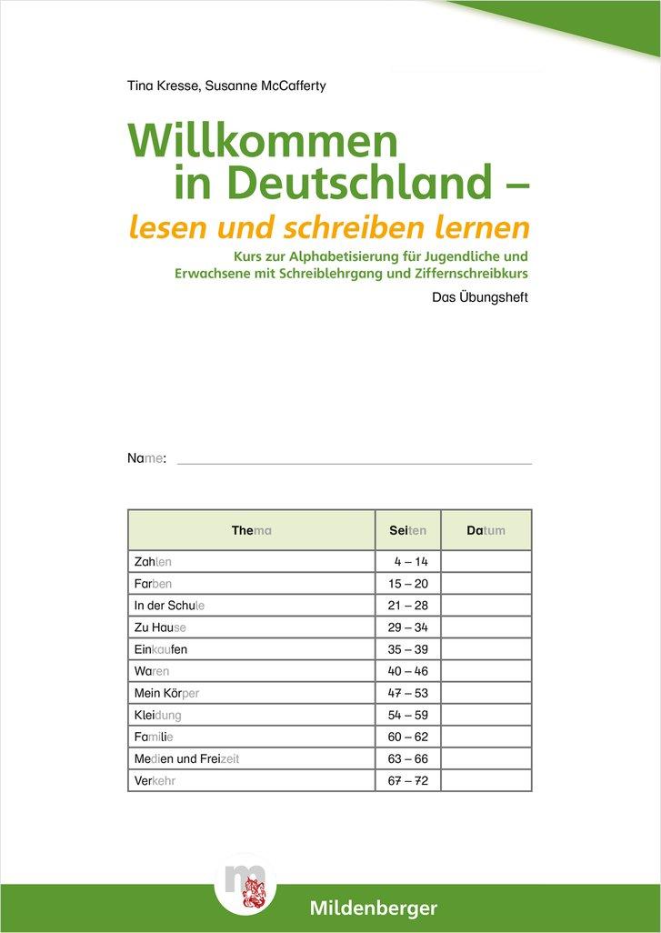 mildenberger verlag gmbh willkommen in deutschland lesen und schreiben lernen f r. Black Bedroom Furniture Sets. Home Design Ideas
