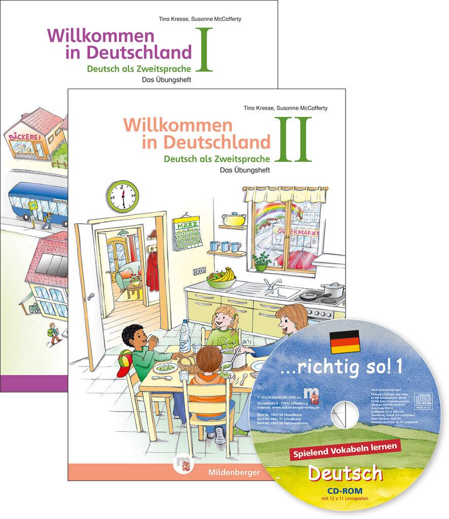 mildenberger verlag gmbh willkommen in deutschland deutsch als zweitsprache i und ii mit. Black Bedroom Furniture Sets. Home Design Ideas