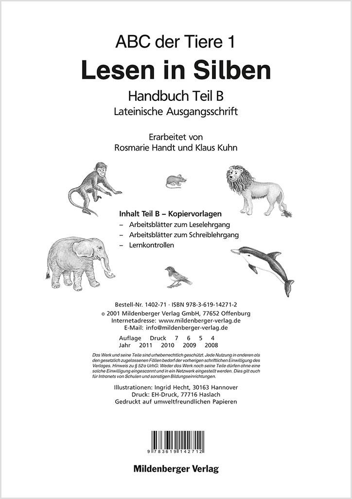 Mildenberger Verlag GmbH - ABC der Tiere 1 – Handbuch Teil B (LA)