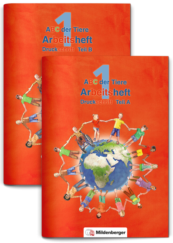 ABC der Tiere 1 Schreiblehrgang Druckschrift Teil A und B Neubearbeitung St