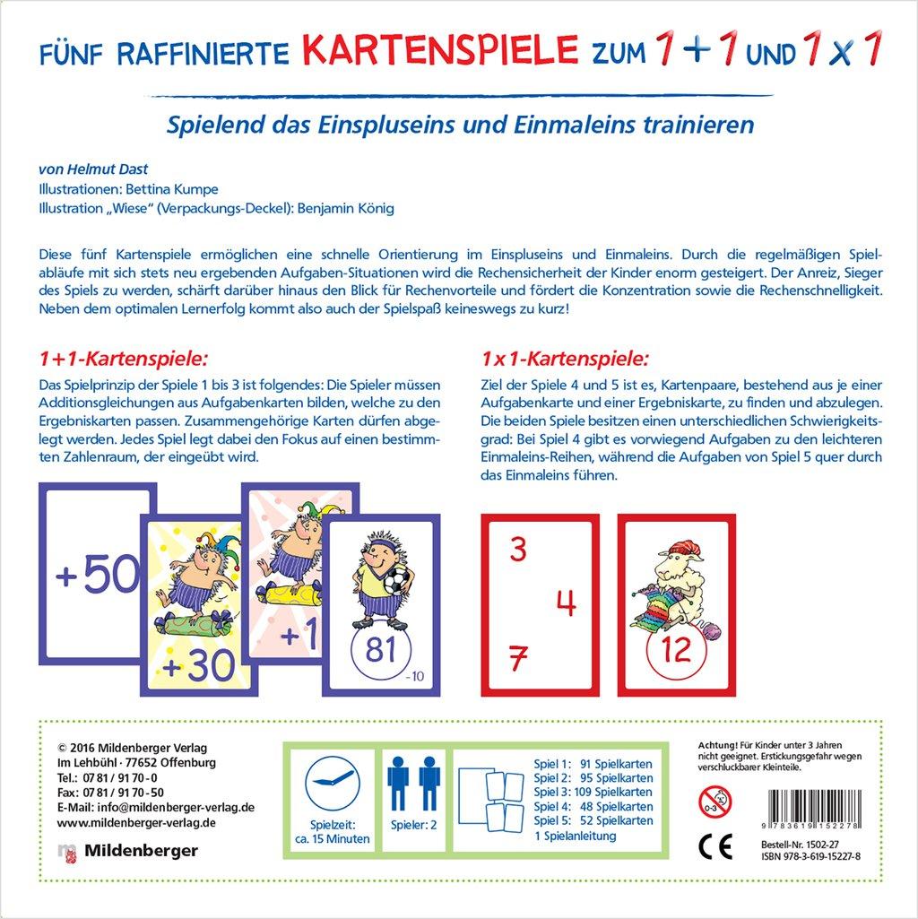 Mildenberger Verlag GmbH - Fünf raffinierte Kartenspiele zum 1+1 und 1x1