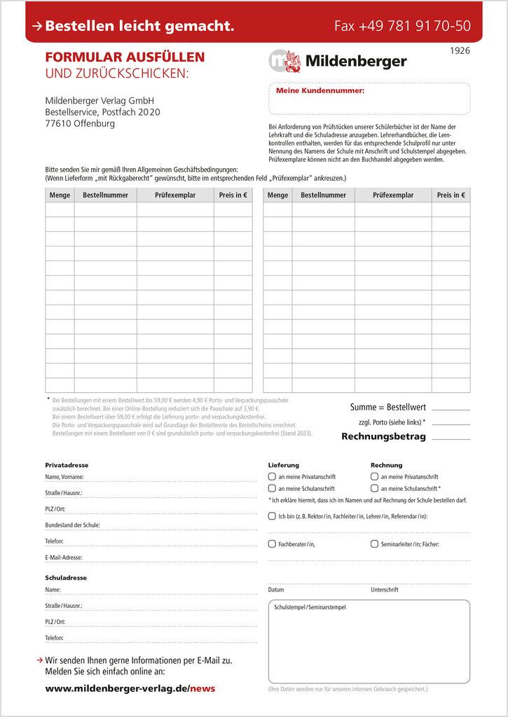 Mildenberger Verlag GmbH - Bestellschein