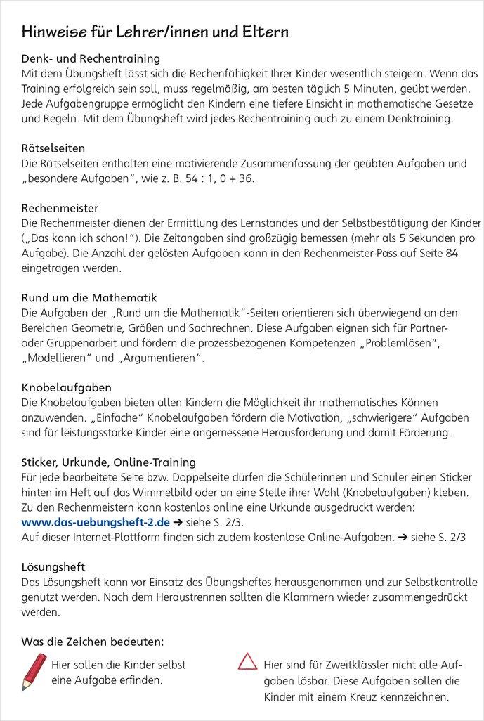 Mildenberger Verlag GmbH - Das Übungsheft Mathematik 2, mit CD-ROM ...