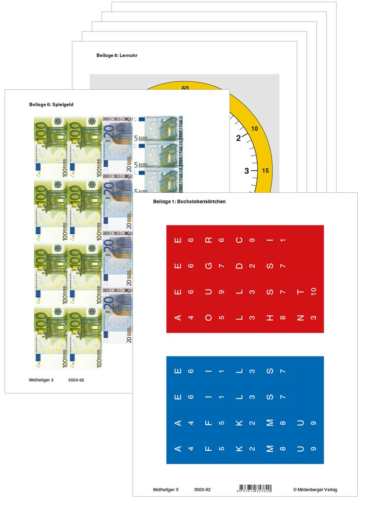 Mildenberger Verlag GmbH - Mathetiger 3, Arbeitsbeilagen (identisch ...