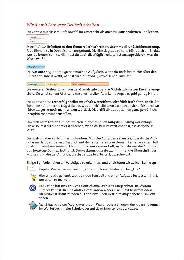 Mildenberger Verlag GmbH - Lernwege Deutsch: Rechtschreiben ...