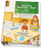 Titelbild: Step by Step – English is easy … that's it! – Lehrerhandbuch für Klasse 1/2