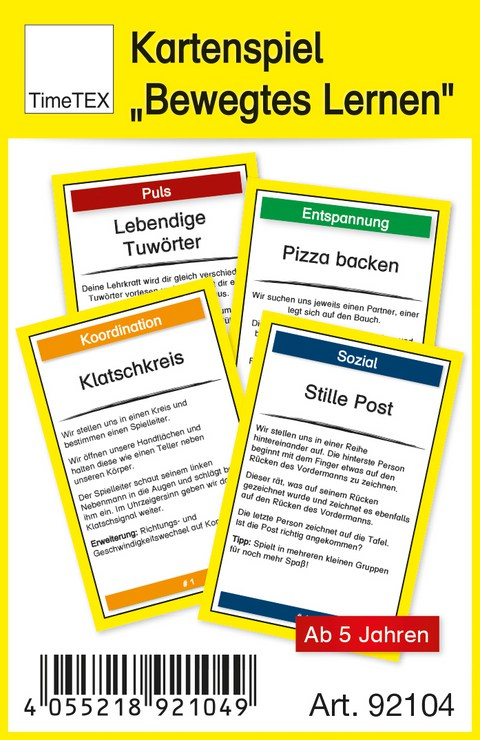 "Kartenspiel ""Bewegtes Lernen"""
