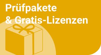 Prüfpakete und Gratis-Lizenzen