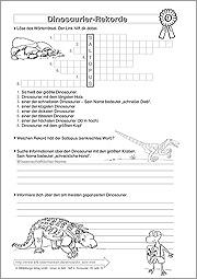 liste newsletter 39 lernen im netz 39 mailing ihr kostenloses arbeitsblatt dinosaurier rekorde. Black Bedroom Furniture Sets. Home Design Ideas