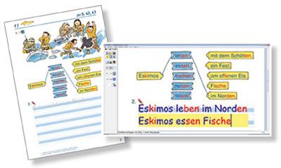 Schulbücher und Arbeitsblätter bearbeiten