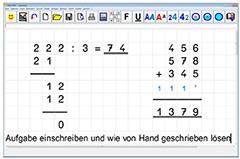 Handschriftlich rechnen am Bildschirm