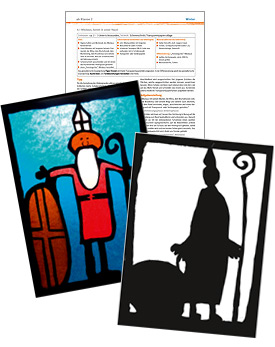 Gratis-Download: Fensterbild Nikolaus