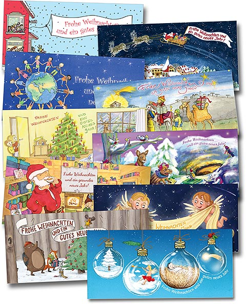 10 Gratis-Weihnachtskarten