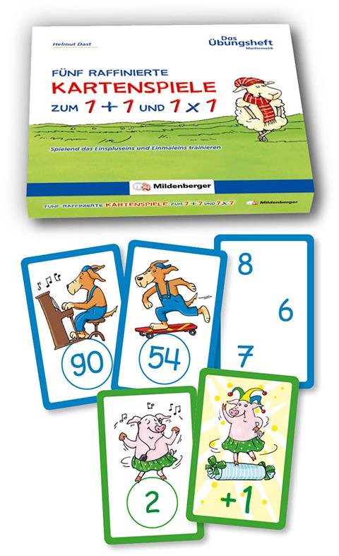 Fünf raffinierte Kartenspiele zum 1x1