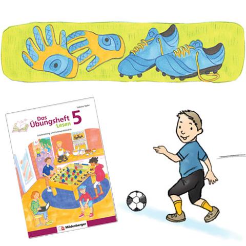 Das Übungsheft Lesen 5 – Lesetraining mit Fußballgeschichten