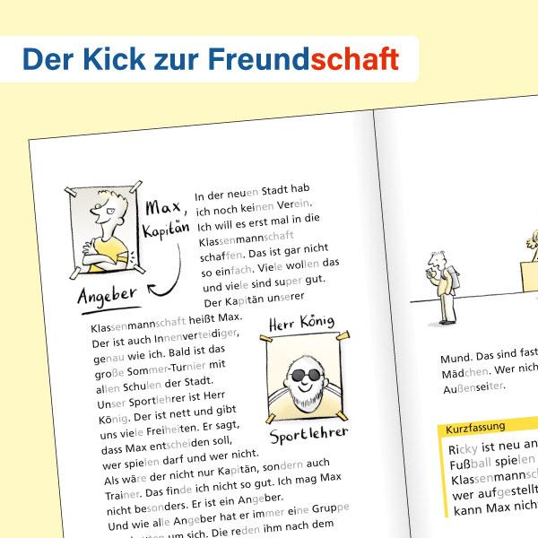 Buch +: Der Kick zur Freundschaft